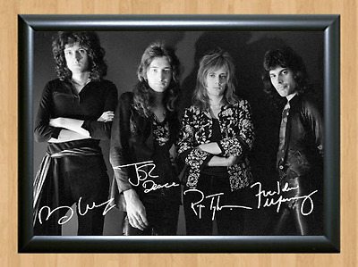 Queen Freddie Mercury Freddy Signed Autographed A4 Print Poster Photo Taylor cd