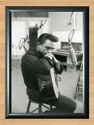 Johnny Cash Music Autographed Signed A4 Print Poster Photo Picture Memorabilia