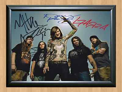 SUICIDE SILENCE Mitch Lucker Band Signed Autographed Music A4 Print Poster Photo