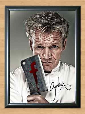 Gordon Ramsay F Word Hells Kitchen Chef Ramsey S4 Signed Autographed A4 Print TV