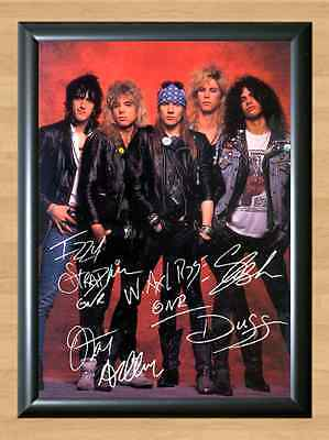 Guns N Roses Axel Rose Slash Guitar Signed Autographed A4 Print Poster Photo CD