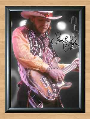 STEVIE RAY VAUGHAN Autographed Signed A4 Print Poster Photo Picture Memorabilia