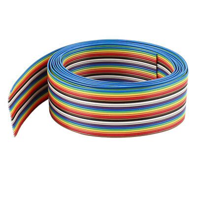 2M 6.6Ft Long 1.27mm Pitch 26-Pin Colorful Connect Test Flat Ribbon Wire Cable