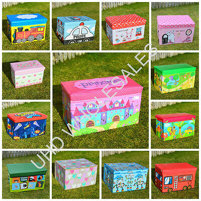 Childrens Kids Large Storage Toy Box Chest Clothes Seat Stool Books Boys Girls