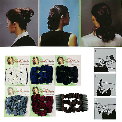 New Magic comb Stretch Velvet Hair Head Comb Double Clips Women Gift USA Ship