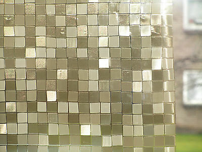 Gold Decorative Reflective Window Frosted Privacy Stained Glass Vinyl Film
