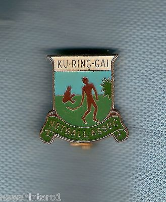 #d184.  Ku-Rig-Gai Netball Association  Lapel  Badge