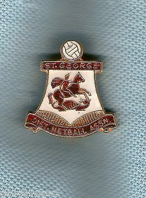 #d184.  St George District Netball Association  Lapel  Badge