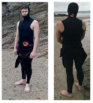 1.5 mm thermal Neo hooded sleeveless rash vest VERY  WARM under wetsuit or alone