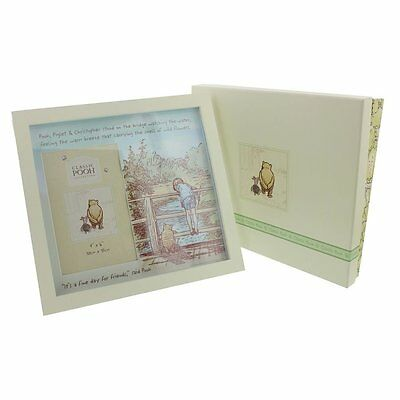 "Disney Classic Pooh Photo Frame - 4x6"" Fine Day For Friends NEW  24778"