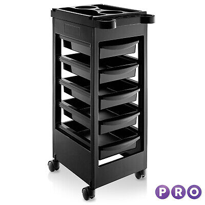 Beauty Salon Trolley Mobile Equipment Cart with Drawers Tool Storage