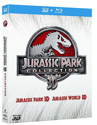 JURASSIC PARK COLLECTION 3D (4 BLU-RAY 3D + 2D) Jurassic Park + Jurassic World