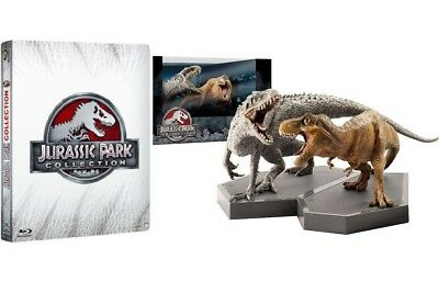 Jurassic Park Steelbook Collection 4 Film (4 Blu-Ray + Statua Dinosauri)