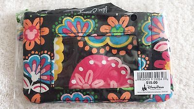 New With Tags Disney Vera Bradley Midnight With Mickey Zip I.d. Case