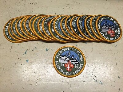 Lot Of 20 1986 Tac-inter-expo 86 BSA Munich-west Germany Patch Boy Scouts Badge