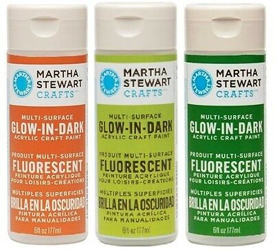 Martha Stewart Acrylic Glow in the Dark Paint Craft SELECT YOUR COLOR!