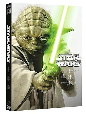 Star Wars Prequel Trilogy 1,2,3 (3 Dvd) Cofanetto Saga Primi 3 Episodi