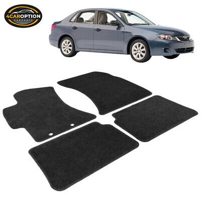 Fits 08-11 Subaru Impreza 4Dr Floor Mats Carpet Front & Rear Nylon Black 4PC