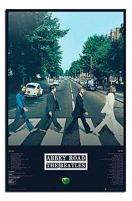 The Beatles Abbey Road Album Tracks Poster  New - Maxi Size 36 x 24 Inch