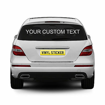 2 x Personalised Rear Window Car Stickers Custom Vinyl Name Lettering Decals
