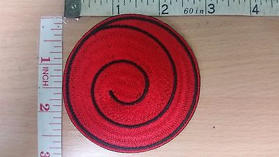 Naruto Uzushio Clan Uzumaki Symbol Iron On embroidered Iron on Patch