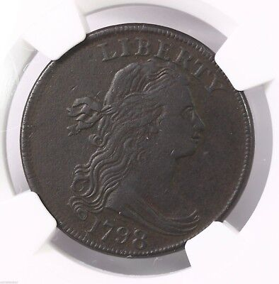 1798 Draped Bust 1C NGC Certified VF Details 1st Hair S-148 Copper Large Cent