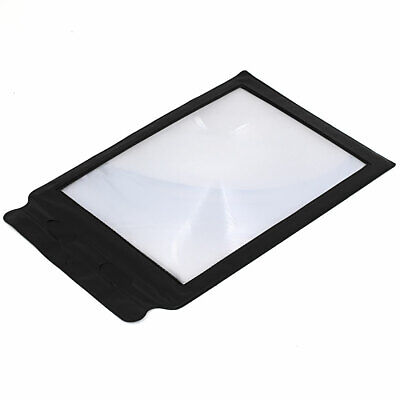 Pocket Flexible Card Fresnel Lens Magnifier A4 Full Page for Reading