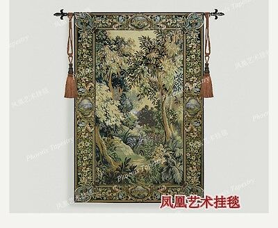 Medieval landscape living room  home textile belgium wall hanging tapestry