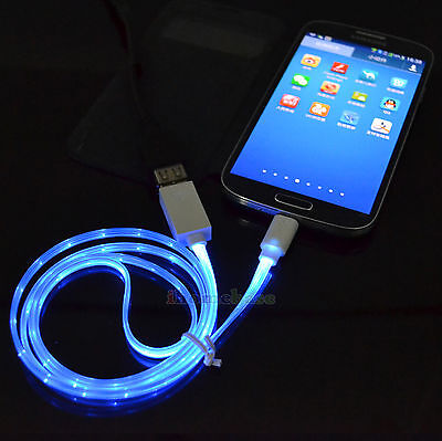 "LED USB Sync Data Charger Cable for Samsung Galaxy Tab 3 4 S A 7.0"" 8.0"" 10.1"""