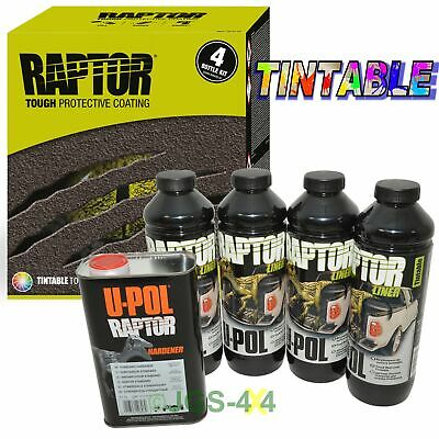 UPOL RAPTOR Ultra Tough Truck Bed Liner Spray On Coating Underseal - Tintable