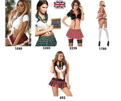 SEXY Naughty Blazer School Girl Fancy Dress Costume Outfit Secretary
