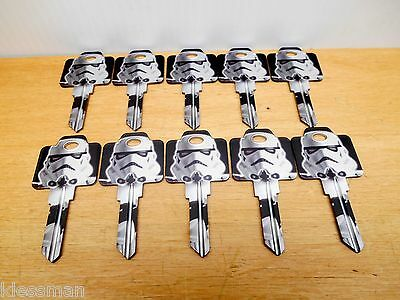 Lot Of 10 Weiser Wr Star Wars Stormtrooper Key Blank, New