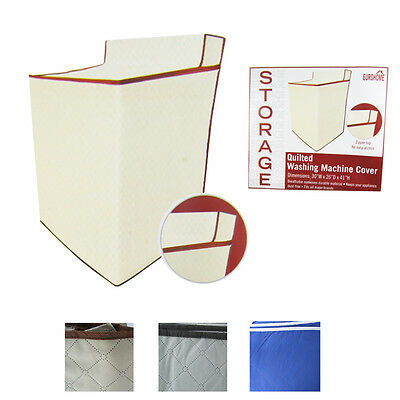 Fabric Zippered Zipper Top Quilted Washing Machine Dryer Cover Dust 3 Colors New