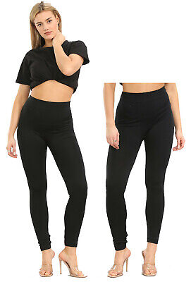 Womens Ladies Thermal Leggings Girls Fleece Legging Warm Tight Thick Winter 8-18