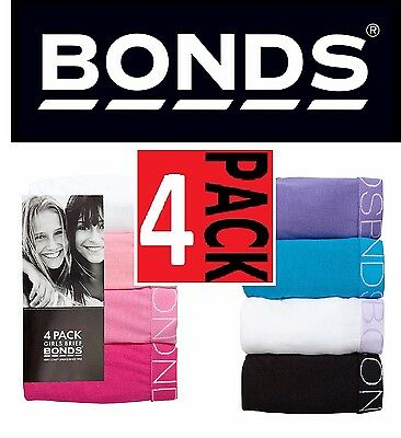 Bonds Girls 4 Pack Pair Underwear Kids Girl Brief Briefs Bikini Undies All Sizes
