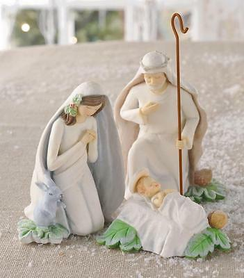 Amscan Gifts of Glory Nativity Collection Holy Family Christmas 3 Pc Figure Set