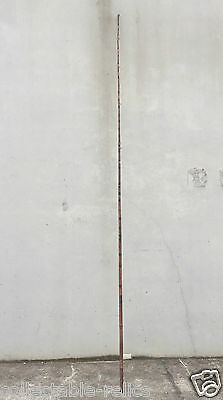Bamboo Brown Fishing Rod 3.82m Tall Long Vintage Antique 1 Piece Pier Ocean Cane