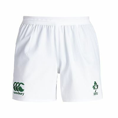 Canterbury Mens Ireland Rugby Home Shorts Pants Bottoms Trousers 15/16 White