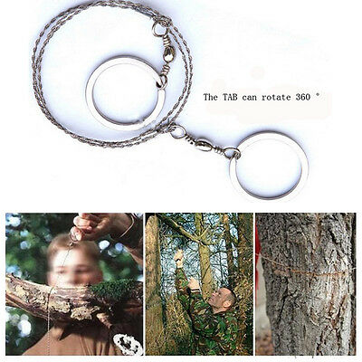 NEW HOT Hiking Camping Stainless Steel Wire Saw Emergency Travel Survival Gear