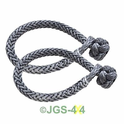 DYNEEMA Soft Rope Shackle MARLOW DYNALINE 8mm 4x4 Recovery 5.8 Tonne Pair