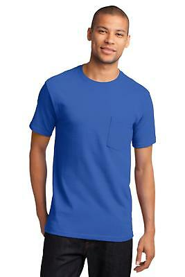 Port & Company PC61PT Mens Tall Essential T-Shirt with Pocket Tall T Shirt NEW