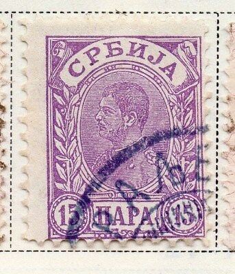 Serbia 1894-1900 Early Issue Fine Used 15p. 008256