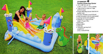 New Intex Fantasy Castle Play centre Pool Water slide Activity Games and Spray