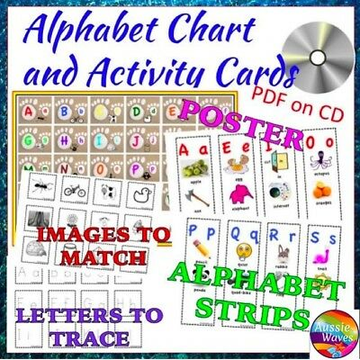 Teaching Reading Resource ALPHABET CHART and PHONICS Activity Cards  PDF CD