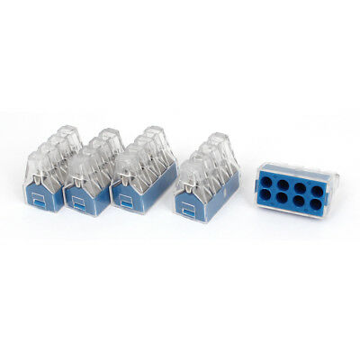 AC 400V 24A 0.75-2.5mm2 1.5-2.5mm2 8 Way Terminal Block Push Wire Connector 5Pcs
