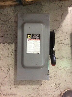 Square D Heavy Duty Safety Switch HU362 60 Amp 600 Volt Non Fusible