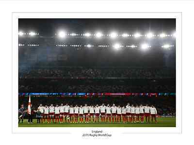 ENGLAND TEAM RUGBY WORLD CUP 2015 PHOTO PRINT A4 or 16 x 12  2015