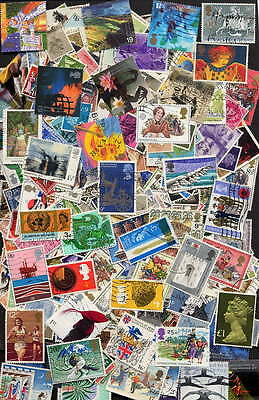 Fine Collection Of 500 Different Great Britain - No Duplicates!