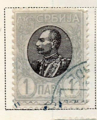 Serbia 1905-08 Early Issue Fine Used 1p. 008279