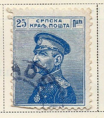 Serbia 1911-12 Early Issue Fine Used 25p. 008296